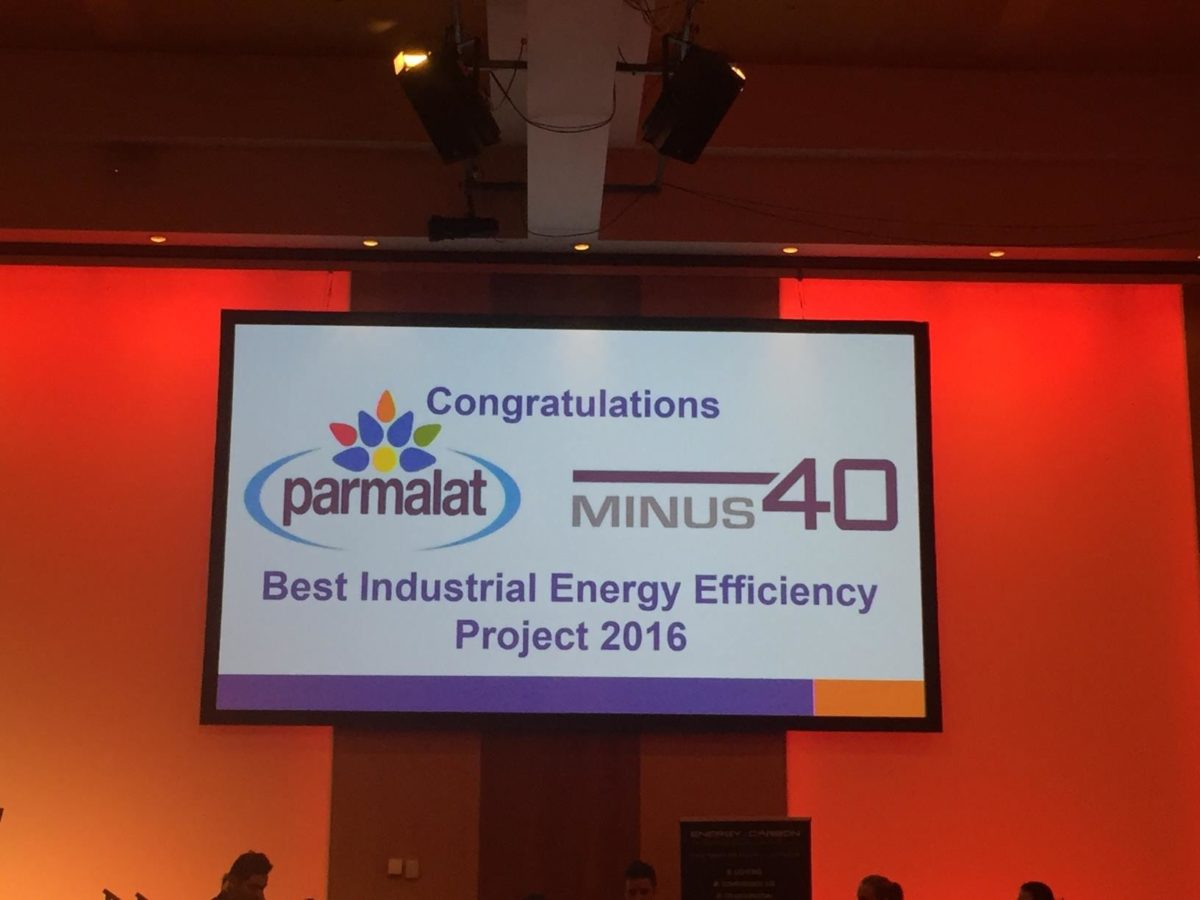 WE DID IT AGAIN! Best Industrial Energy Efficiency Project 2016 Winner