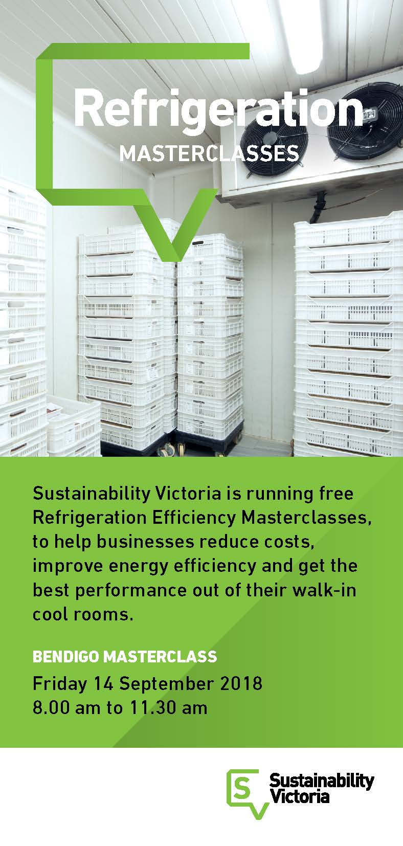 Refrigeration Efficiency Masterclasses ran across Victoria to local businesses.